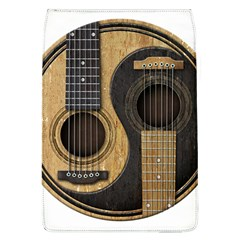 Old And Worn Acoustic Guitars Yin Yang Flap Covers (l)  by JeffBartels