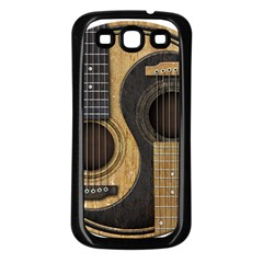 Old And Worn Acoustic Guitars Yin Yang Samsung Galaxy S3 Back Case (black) by JeffBartels