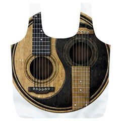 Old And Worn Acoustic Guitars Yin Yang Full Print Recycle Bags (l)  by JeffBartels