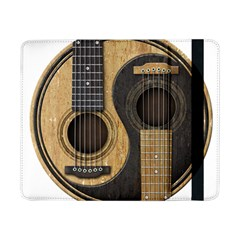 Old And Worn Acoustic Guitars Yin Yang Samsung Galaxy Tab Pro 8 4  Flip Case by JeffBartels