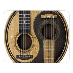Old And Worn Acoustic Guitars Yin Yang Double Sided Flano Blanket (large)  by JeffBartels