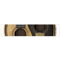 Old And Worn Acoustic Guitars Yin Yang Flano Scarf (small) by JeffBartels