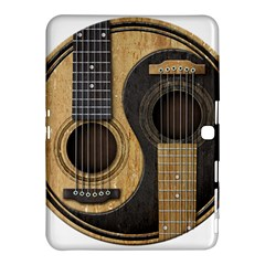 Old And Worn Acoustic Guitars Yin Yang Samsung Galaxy Tab 4 (10 1 ) Hardshell Case  by JeffBartels