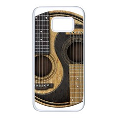 Old And Worn Acoustic Guitars Yin Yang Samsung Galaxy S7 White Seamless Case by JeffBartels