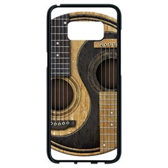 Old And Worn Acoustic Guitars Yin Yang Samsung Galaxy S8 Black Seamless Case by JeffBartels