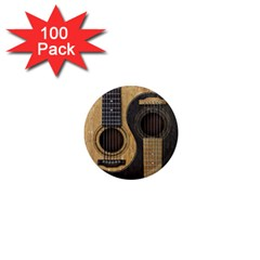 Old And Worn Acoustic Guitars Yin Yang 1  Mini Magnets (100 Pack)  by JeffBartels