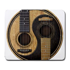 Old And Worn Acoustic Guitars Yin Yang Large Mousepads by JeffBartels