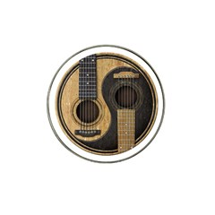Old And Worn Acoustic Guitars Yin Yang Hat Clip Ball Marker by JeffBartels