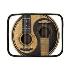 Old And Worn Acoustic Guitars Yin Yang Netbook Case (small)  by JeffBartels