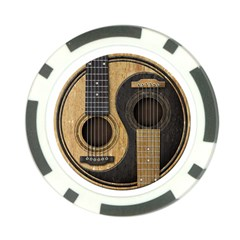 Old And Worn Acoustic Guitars Yin Yang Poker Chip Card Guard (10 Pack) by JeffBartels
