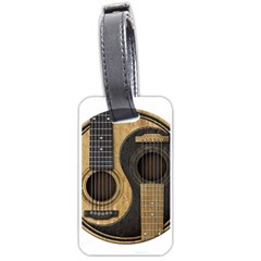 Old And Worn Acoustic Guitars Yin Yang Luggage Tags (one Side)  by JeffBartels