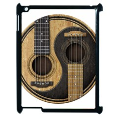 Old And Worn Acoustic Guitars Yin Yang Apple Ipad 2 Case (black) by JeffBartels