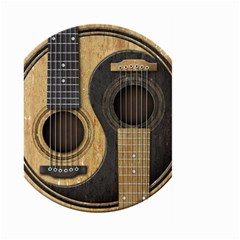 Old And Worn Acoustic Guitars Yin Yang Large Garden Flag (two Sides) by JeffBartels