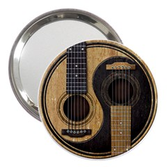 Old And Worn Acoustic Guitars Yin Yang 3  Handbag Mirrors by JeffBartels