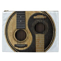 Old And Worn Acoustic Guitars Yin Yang Cosmetic Bag (xxl)  by JeffBartels