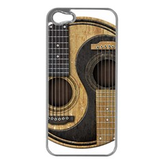 Old And Worn Acoustic Guitars Yin Yang Apple Iphone 5 Case (silver) by JeffBartels