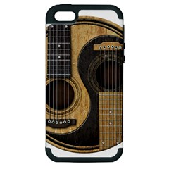 Old And Worn Acoustic Guitars Yin Yang Apple Iphone 5 Hardshell Case (pc+silicone) by JeffBartels