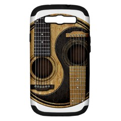 Old And Worn Acoustic Guitars Yin Yang Samsung Galaxy S Iii Hardshell Case (pc+silicone) by JeffBartels
