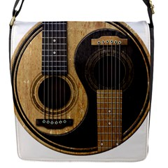Old And Worn Acoustic Guitars Yin Yang Flap Covers (s)  by JeffBartels