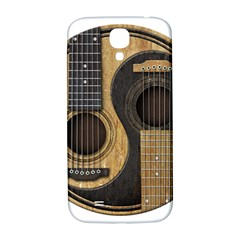 Old And Worn Acoustic Guitars Yin Yang Samsung Galaxy S4 I9500/i9505  Hardshell Back Case by JeffBartels