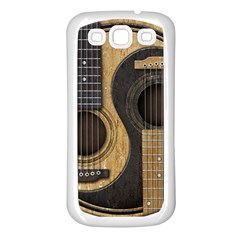 Old And Worn Acoustic Guitars Yin Yang Samsung Galaxy S3 Back Case (white) by JeffBartels