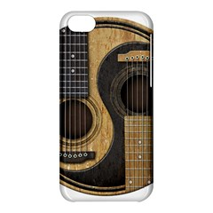 Old And Worn Acoustic Guitars Yin Yang Apple Iphone 5c Hardshell Case by JeffBartels