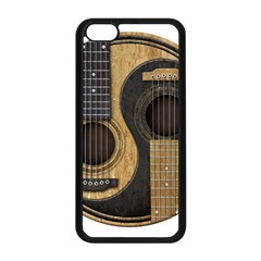 Old And Worn Acoustic Guitars Yin Yang Apple Iphone 5c Seamless Case (black) by JeffBartels
