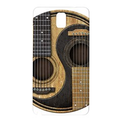 Old And Worn Acoustic Guitars Yin Yang Samsung Galaxy Note 3 N9005 Hardshell Back Case by JeffBartels