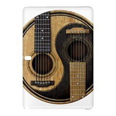 Old And Worn Acoustic Guitars Yin Yang Samsung Galaxy Tab Pro 12 2 Hardshell Case by JeffBartels