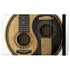 Old And Worn Acoustic Guitars Yin Yang Apple Ipad Pro 9 7   Flip Case by JeffBartels