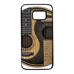 Old And Worn Acoustic Guitars Yin Yang Samsung Galaxy S7 Black Seamless Case by JeffBartels