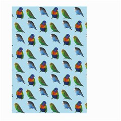 Blue Birds Parrot Pattern Large Garden Flag (two Sides) by paulaoliveiradesign