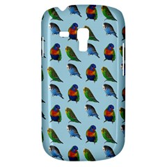 Blue Birds Parrot Pattern Galaxy S3 Mini by paulaoliveiradesign
