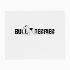 Bull Terrier  Small Glasses Cloth (2 Side) by Valentinaart