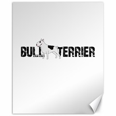 Bull Terrier  Canvas 11  X 14   by Valentinaart