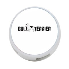 Bull Terrier  4 Port Usb Hub (two Sides)  by Valentinaart