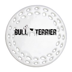Bull Terrier  Ornament (round Filigree) by Valentinaart