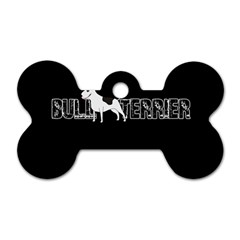 Bull Terrier  Dog Tag Bone (one Side) by Valentinaart