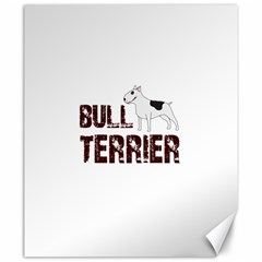 Bull Terrier  Canvas 20  X 24   by Valentinaart