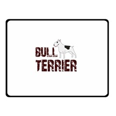 Bull Terrier  Double Sided Fleece Blanket (small)  by Valentinaart