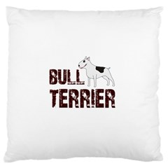 Bull Terrier  Large Flano Cushion Case (two Sides) by Valentinaart