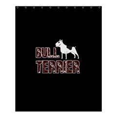 Bull Terrier  Shower Curtain 60  X 72  (medium)