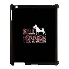 Bull Terrier  Apple Ipad 3/4 Case (black) by Valentinaart