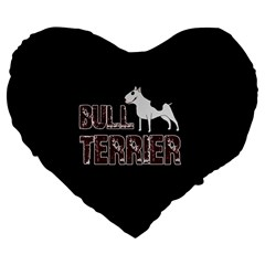Bull Terrier  Large 19  Premium Heart Shape Cushions