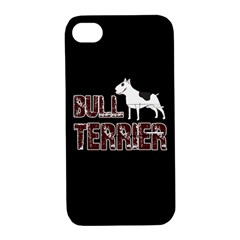 Bull Terrier  Apple Iphone 4/4s Hardshell Case With Stand by Valentinaart