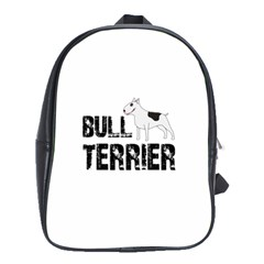 Bull Terrier  School Bags(large)  by Valentinaart