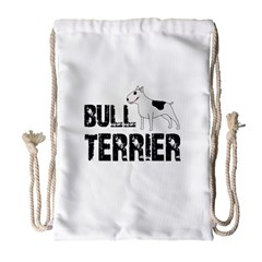 Bull Terrier  Drawstring Bag (large)