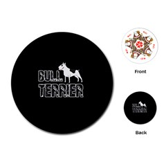 Bull Terrier  Playing Cards (round)