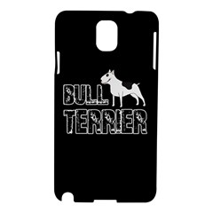Bull Terrier  Samsung Galaxy Note 3 N9005 Hardshell Case by Valentinaart