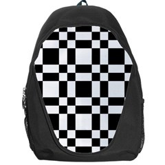 Checkerboard Black And White Backpack Bag by Colorfulart23